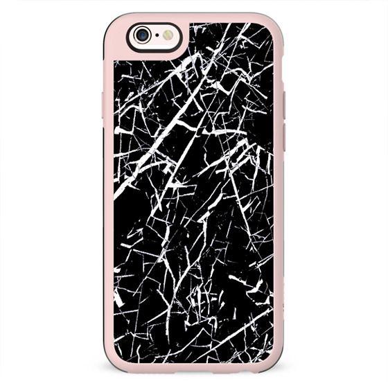 Black marble cracked
