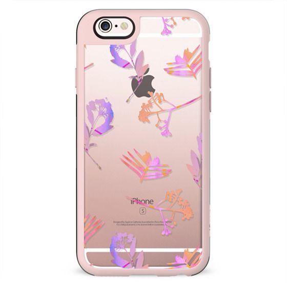 Minimal pink transparent flowers