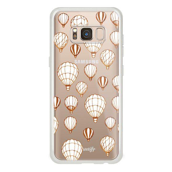iPhone 6s Cases - White golden line art balloons