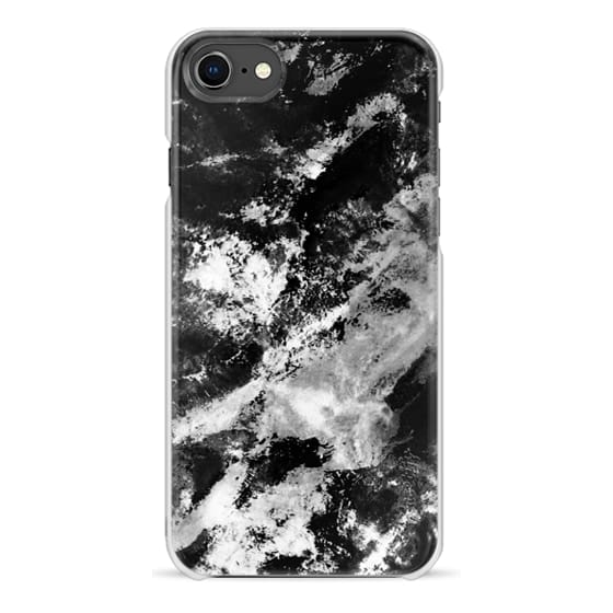 iPhone 7 Plus Cases - Black and white mountain marble
