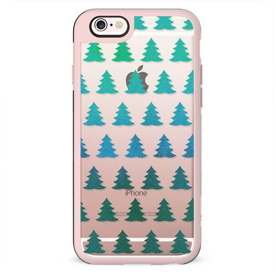 Sparkle green pine trees
