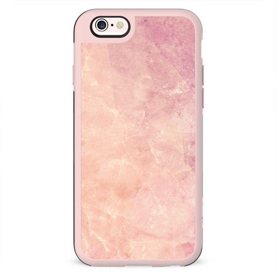 Peach pink marble