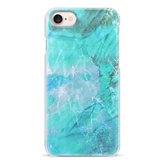 iPhone 6s Cases - turquoise transparent painted marble