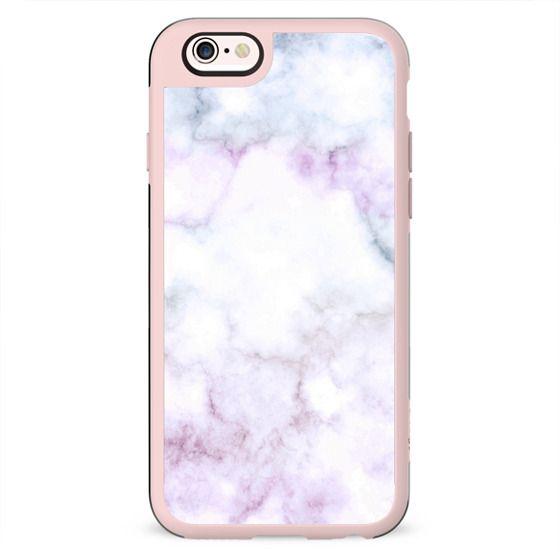 White marble pastel coloured cracks