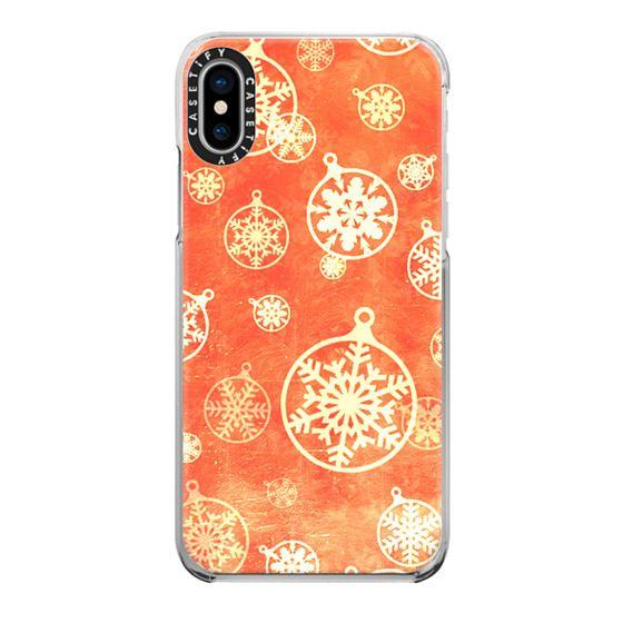 iPhone 6s Cases - Golden foil Christmas snowflake decorations