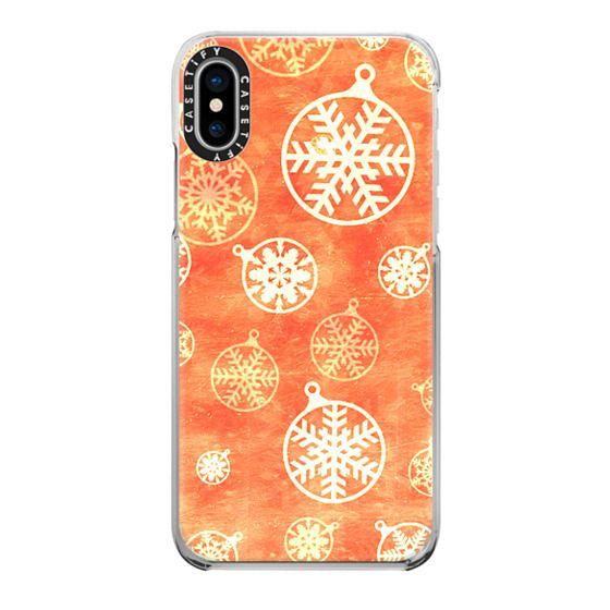iPhone 7 Plus Cases - Golden foil Christmas snowflake decorations