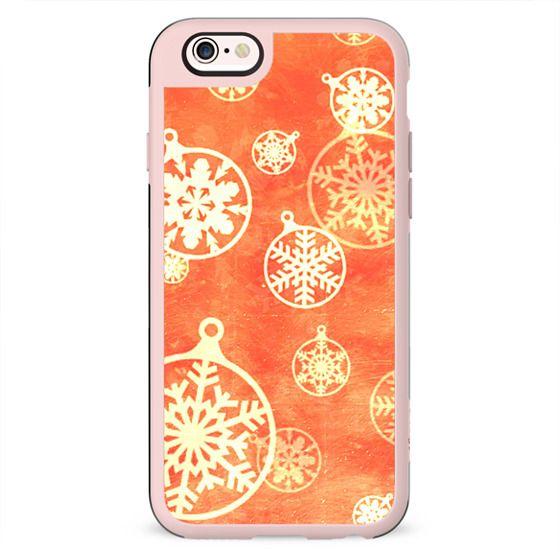 Golden foil Christmas snowflake decorations