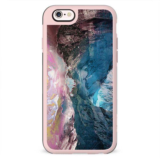 Artistic colourful mountain landscape