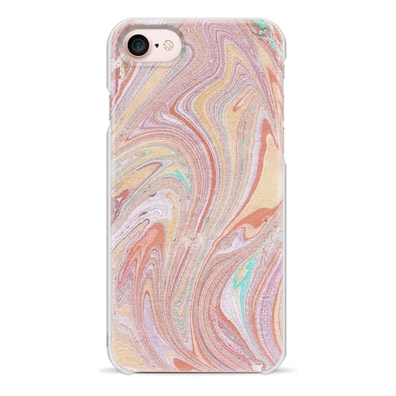 iPhone 7 Plus Cases - Abstract pastel colorful marble art