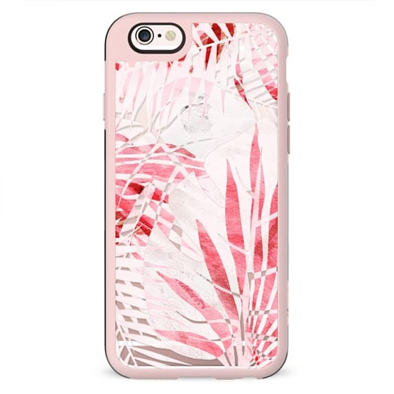 Light pink tropical leaves - transparent