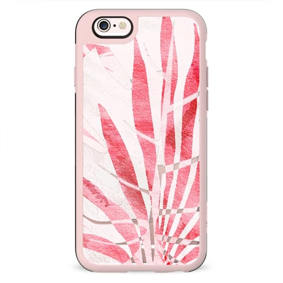 Light pink tropical leaf - transparent
