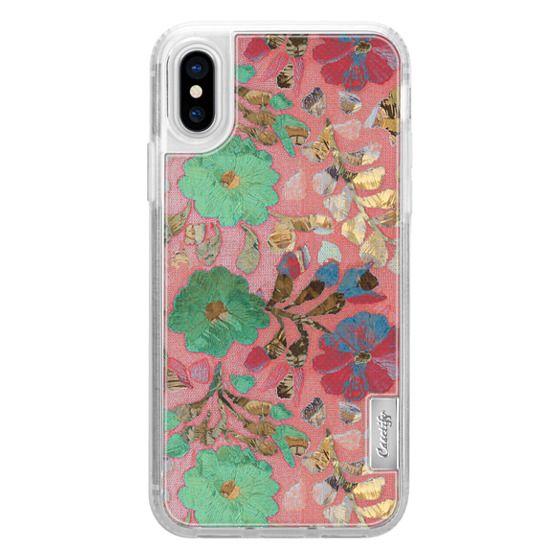 iPhone 7 Plus Cases - Peach golden flowers