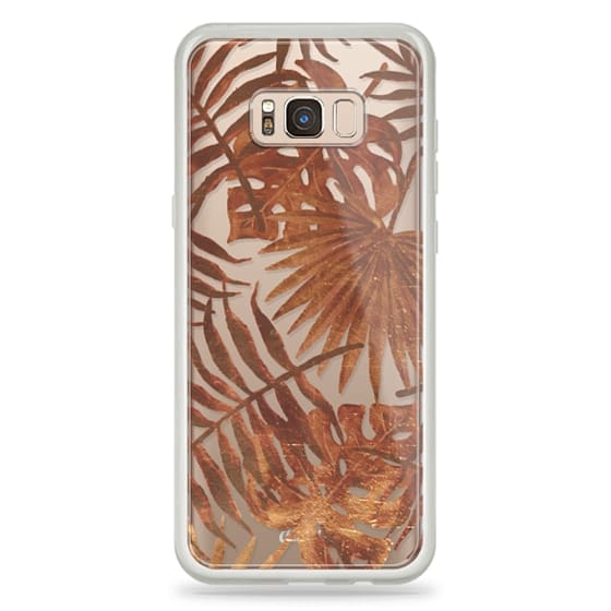 iPhone 6s Cases - Golden palm and ficus tropical leaf