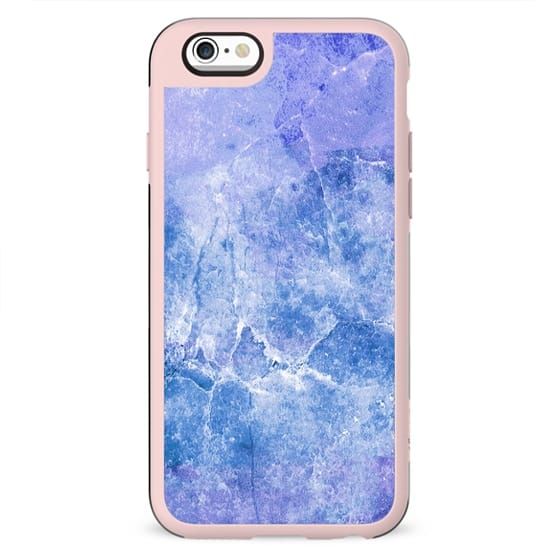 Rich blue cracked marble
