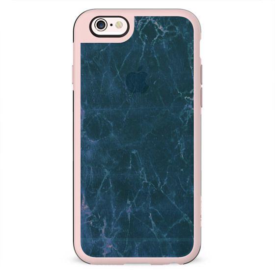 simple pastel blue marble cracks