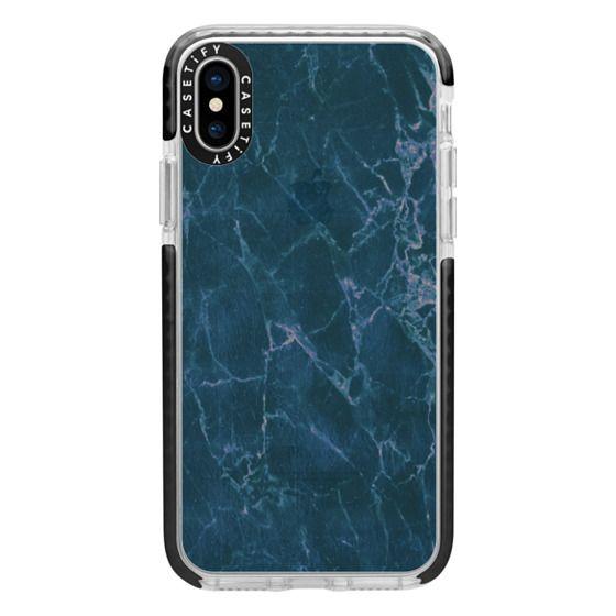 iPhone 6s Cases - dark blue marble cracks