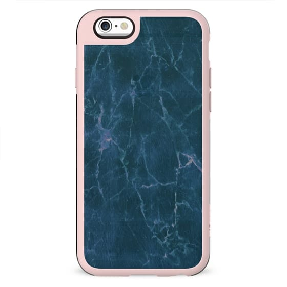 minimal transparent pastel blue marble cracks