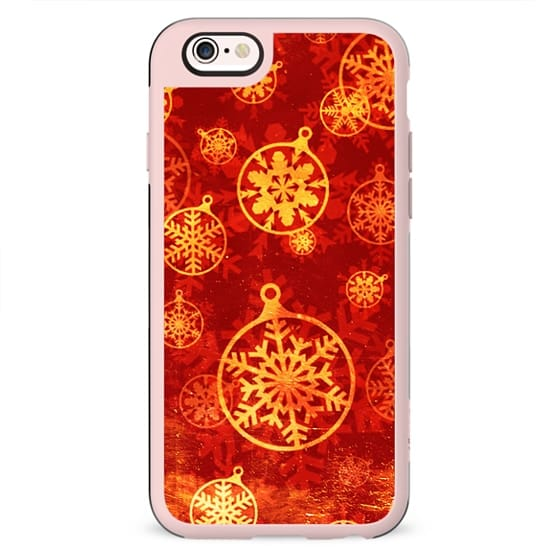 Rich red and golden Christmas ornaments