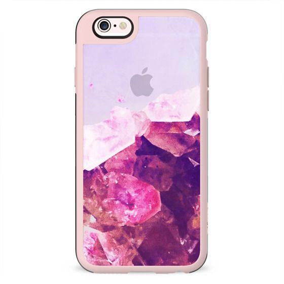 Half pink precious stone