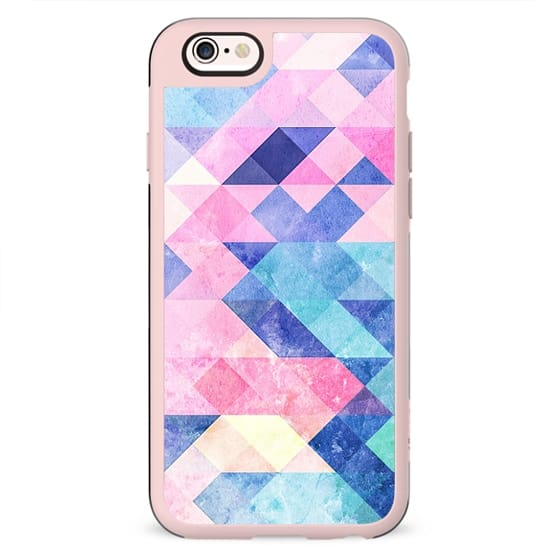 Pastel painted marble triangles