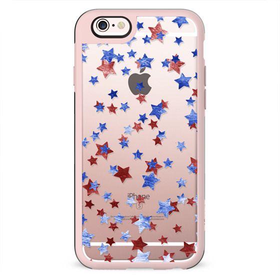 Blue copper red stars