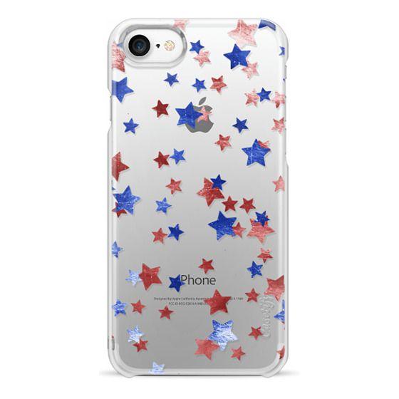 iPhone 6s Cases - Blue copper red metallic stars
