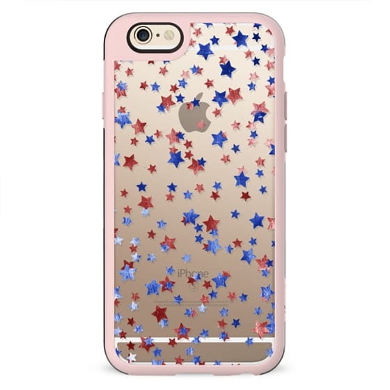 Blue and red copper stars