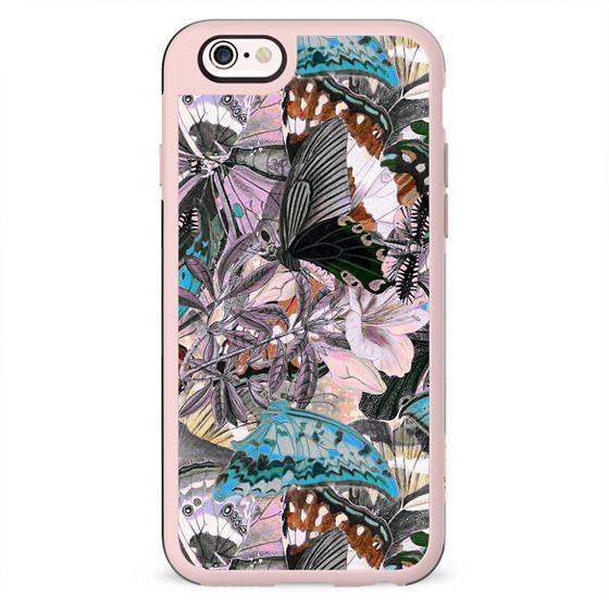 Butterfly wings botanical illustration pattern