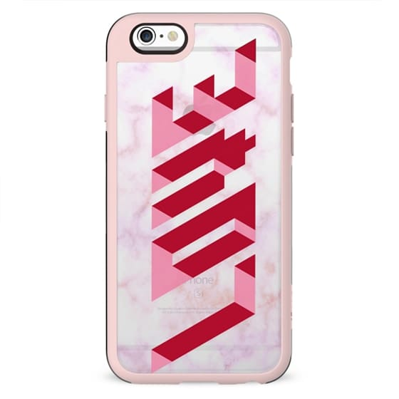 Pink Love 3D transparent marble