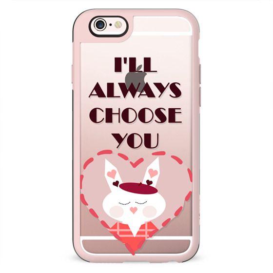 I'll always choose you - heart bunny
