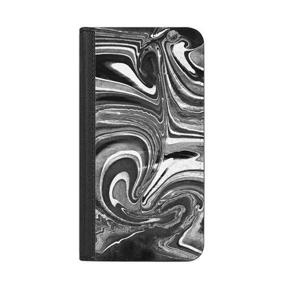 iPhone 6s Cases - Liquid monochrome marble painting