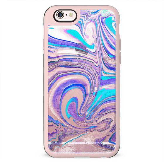 Blue purple transparent marble paint