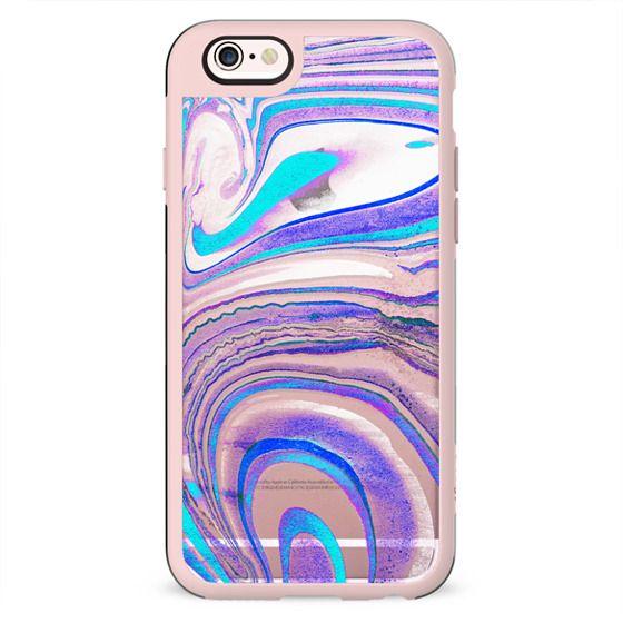 Blue purple transparent marble lines