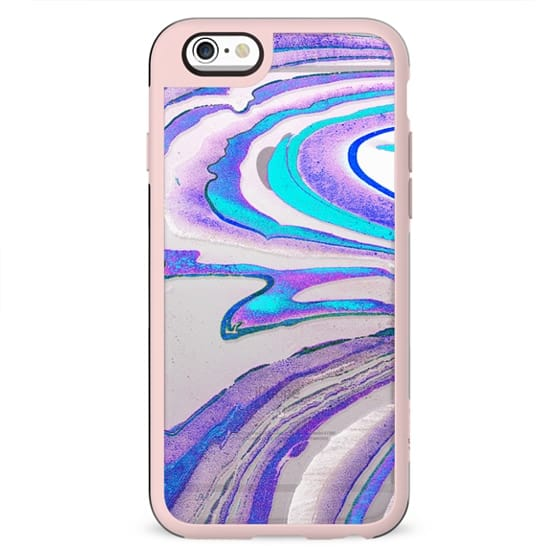 Blue purple transparent marble line art