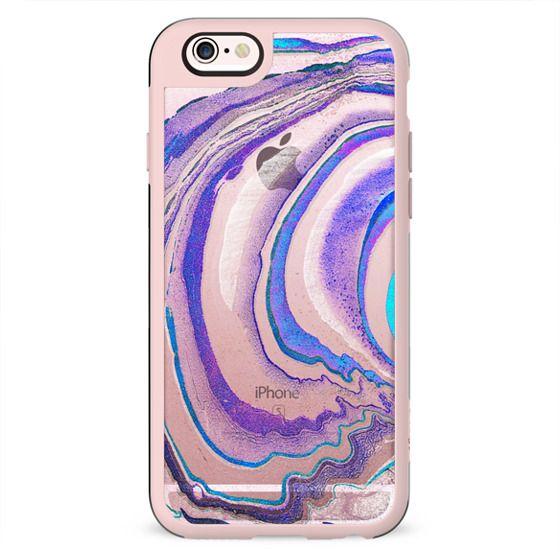 transparent blue purple marble lines