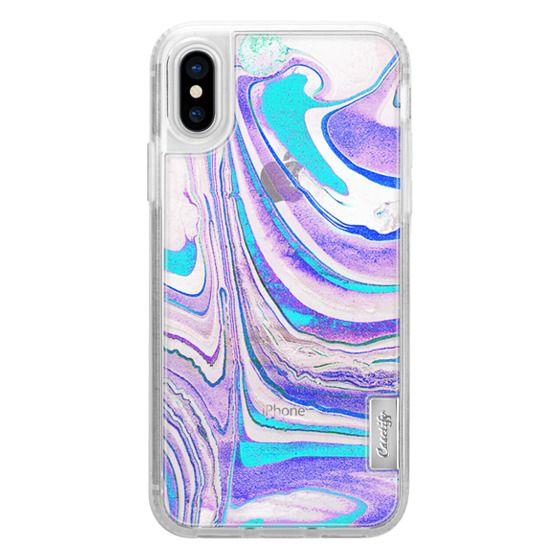 iPhone 7 Plus Cases - transparent marble waves