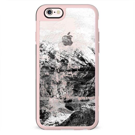 Mountain rock close-up transparent