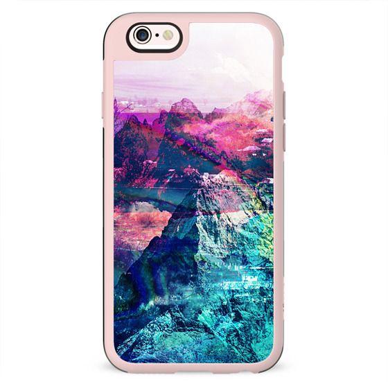 colorful vibrant mountain landscape painting