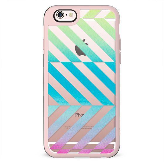 Watercolor stripes clear case dynamic minimal