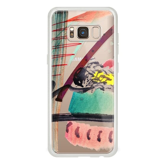iPhone 7 Plus Cases - Quick watercolor abstract doodles clear