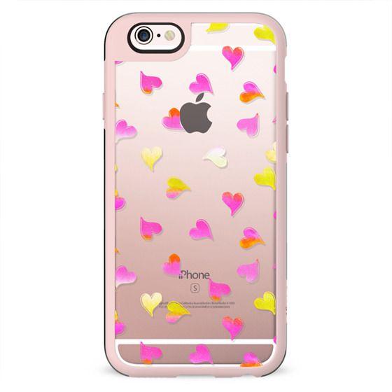Pink yellow gradient hearts