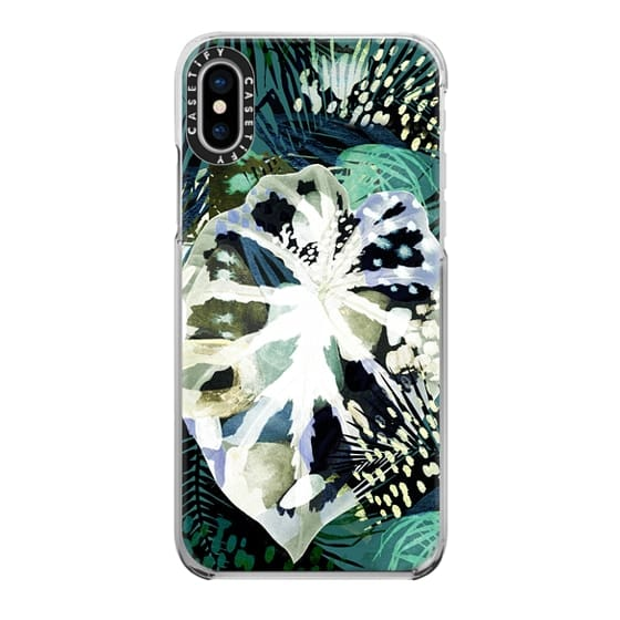 iPhone 6s Cases - Painted green watercolor ficus leaf