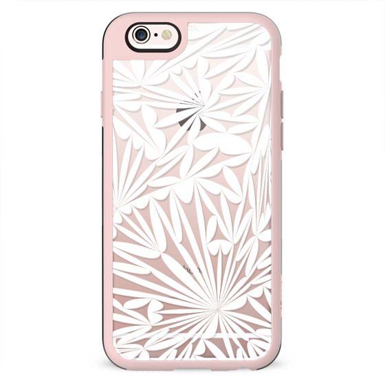White transparent floral lace clear