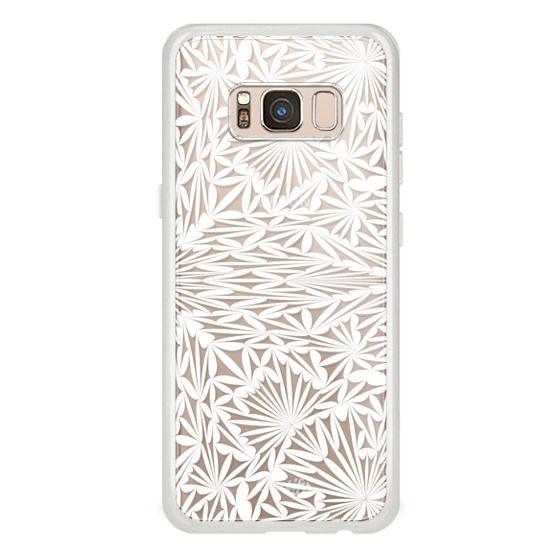 iPhone 7 Plus Cases - White transparent floral lace 2