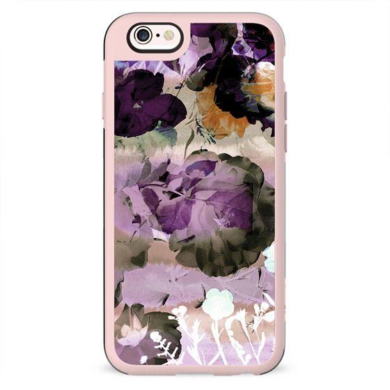 Watercolor pastel purple flower petals