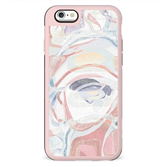 Grainy pink white marble paint