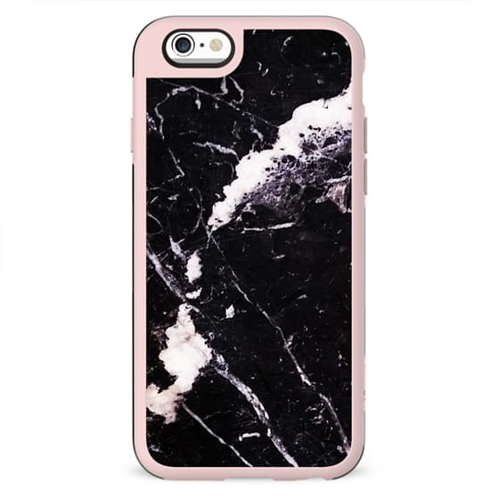 Cracked black marble elegant