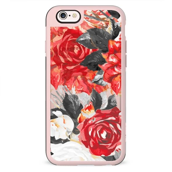 Desaturated red roses romantic clear case