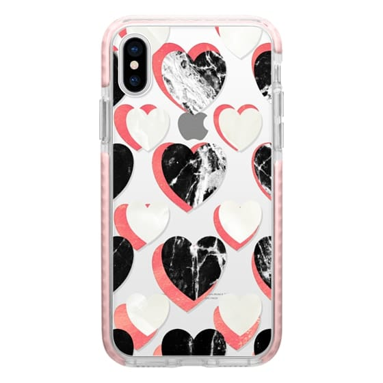 iPhone 6s Cases - Marble hearts clear