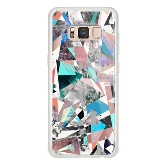 iPhone 7 Plus Cases - Textured vibrant colored triangles marble